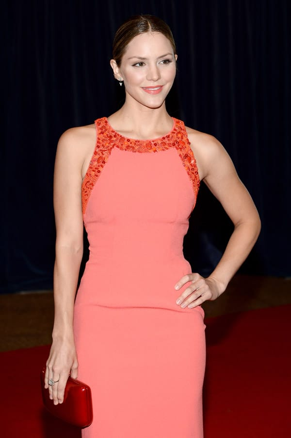 Katharine Mcphee wears Rodo at the White House Correspondence Dinner in DC