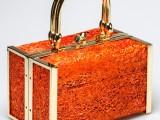 Vitussi- Bauletto con trama di fico d'India naturale color arancione euro 880