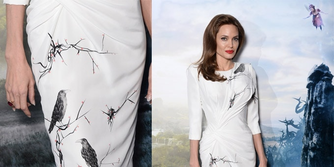 Angelina Jolie in Atelier Versace - 'Maleficent' Photocall
