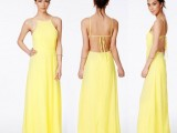 Backless dress - giallo