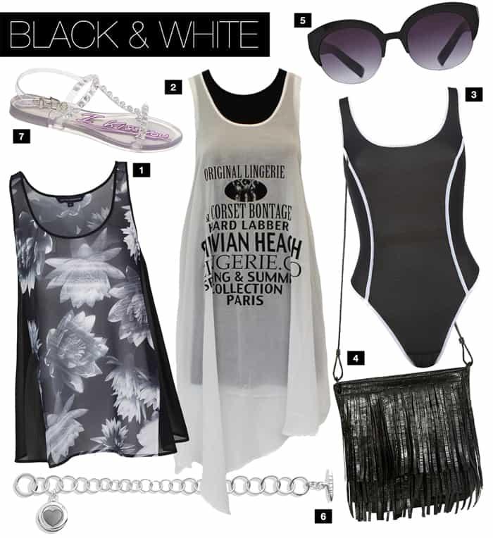 IN BLACK & WHITE.