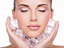 bellezza della pelle: il ghiaccio sul viso