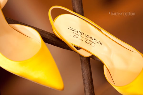 Le scarpe di Duccio Venturi per Tribute to Versace