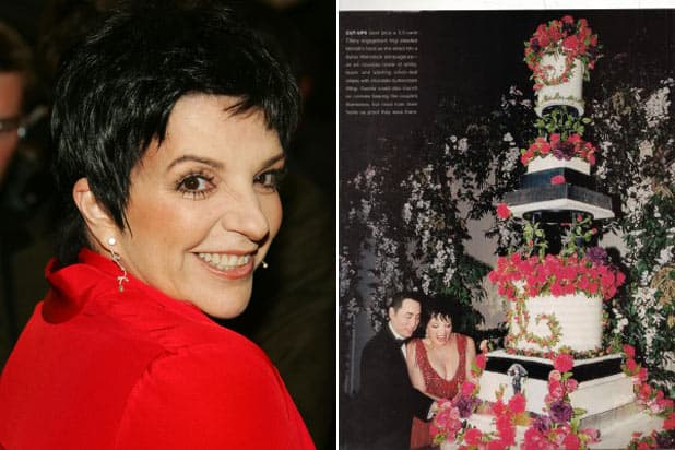 Liza Minnelli and David Gest's $40,000 Red Accent Wedding Cake