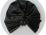 La moda del turbante- black-leatherette