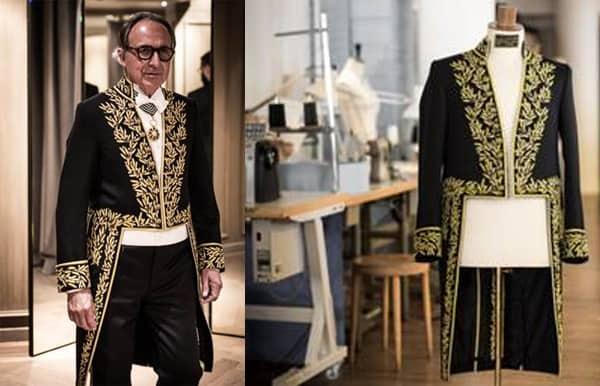 L'uniforme creata per Alain-Charles Perrot, nuovo accademico della French Académie des Beaux-Arts,