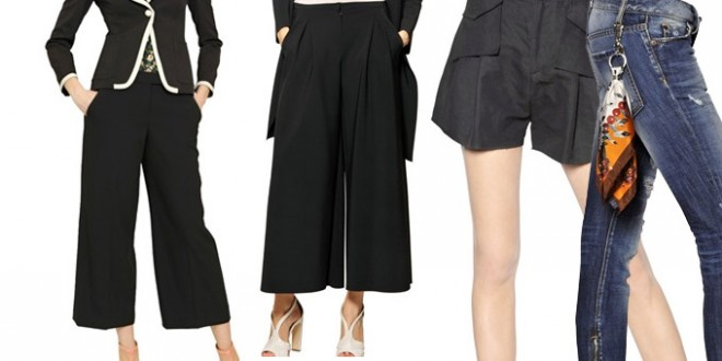 Pantaloni: i 4 modelli must have dell'estate 2014