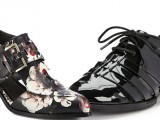 Jason Wu Floral-Print Leather Cutout Brogues
