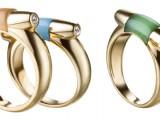 Arancione, verde e blu. Sono i nuovi anelli Gancino by Ferragamo
