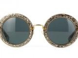 Miu Miu occhiali da sole tondi vintage con brillanti