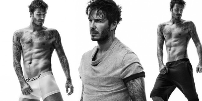 David Beckham semi-vestito per H&M