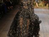 long dress nero effetto mesh dolce e gabbana