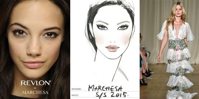 Il make up di Revlon per Marchesa