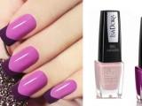 Rosa tenue e violetta: i nuovi colori degli smalti IsaDora