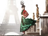 Jessica Minh Anh sulla Tour-Eiffel Autumn Fashion Show 2014