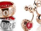 Un cuore in oro e la scritta in smalto rosso per i nuovi gioielli Amore di Pasquale Bruni