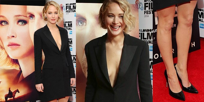 Jennifer Lawrence in Dior a Londra
