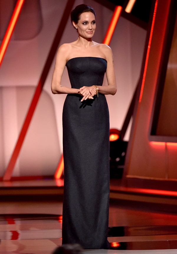 Angelina Jolie in Atelier Versace - The Hollywood Film Awards
