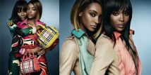 Naomi Campbell e Jourdan Dunn per Burberry