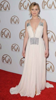 Jennifer Lawrence in Prada ai PGA