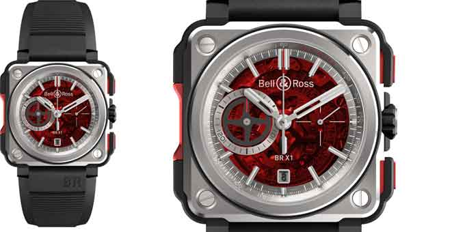 BELL & ROSS: nuova versione RED EDITION del BR ­X1 SKELETON CHRONOGRAPH
