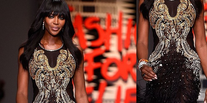 Naomi apre la London Fashion Week