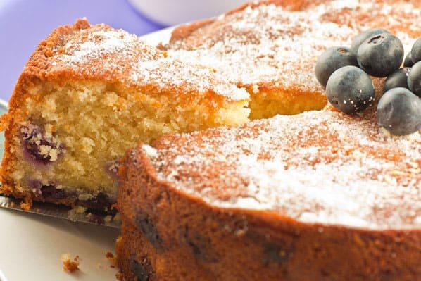 torta al the con mirtilli