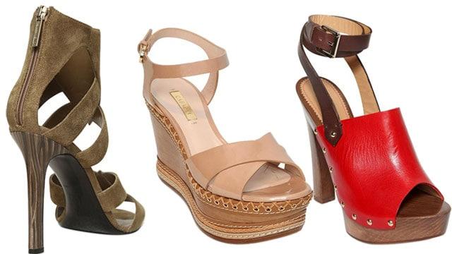 scarpe con plateau in legno per il 2015