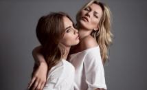 Kate Moss e Cara Delenvigne