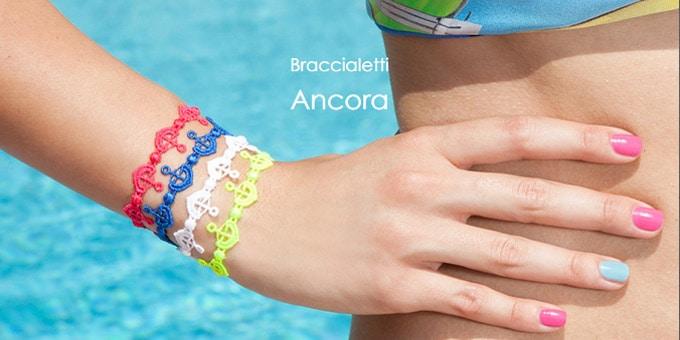 I braccialetti in macramè di Cruciani C mettono l'ancora per l'estate 2015