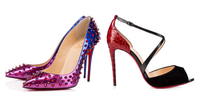 Christian Louboutin scarpe donna multicolor