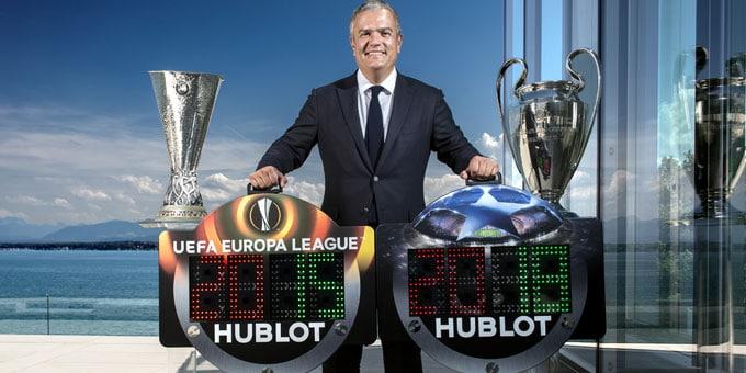 Hublot-: i-nuovi display della UEFA Champions League