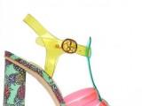 Sophia Webster sandali in-pvc-e-seta-stampa-ananas
