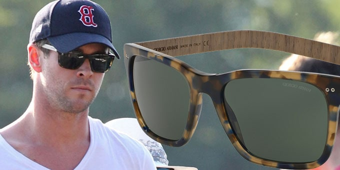 Chris Hemsworth in Giorgio Armani Eyewear