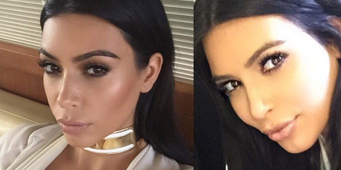 Il make up di Kim Kardashian - foto via instagram