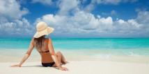 trattamento di bellezza in spiaggia