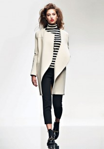Twin-Set Simona Barbieri autunno/inverno 2015/16 millerighe bianconere con pantaloni