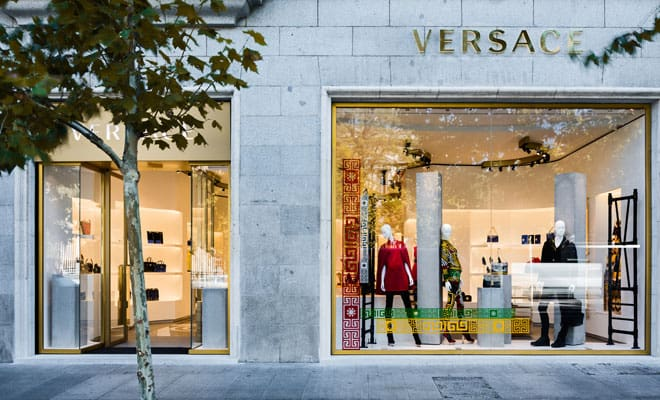 nuova boutique Versace a Madrid