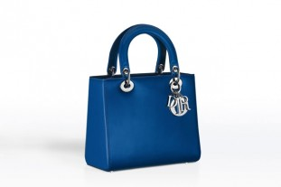 Lady Dior Blue Pearlised