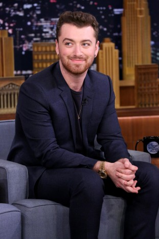 Sam Smith in Armani