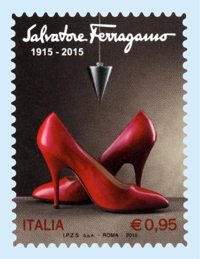francobollo Salvatore Ferragamo 100 anni