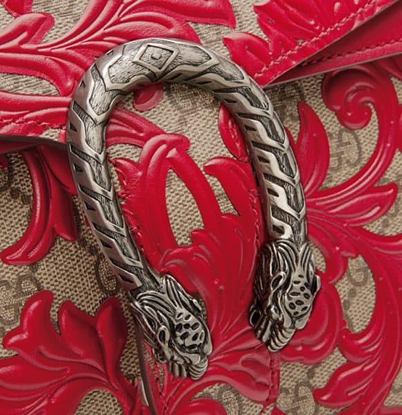Borsa Gucci arabesque red