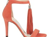 sandali orange jimmy choo