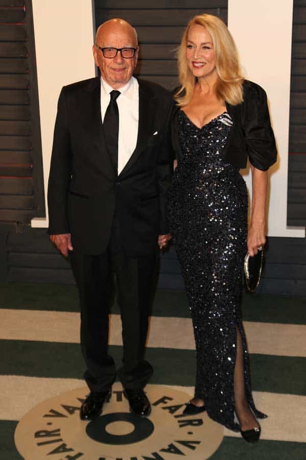 Vanity Fair Oscar Party - Jerry Hall in Vivienne Westwood