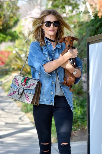 Rosie Huntington-Whiteley con la borsa Gucci