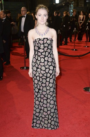 Saoirse-Ronan-wears-Chopard-to-the-BAFTAs,-London