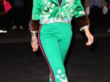 Rihanna divina in total look Gucci a New York