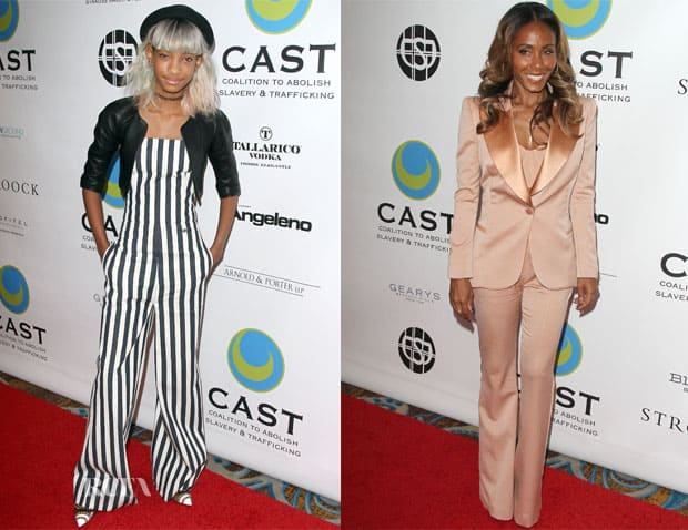 Willow Smith In Chanel a sinistra e la madre Jada Pinkett Smith