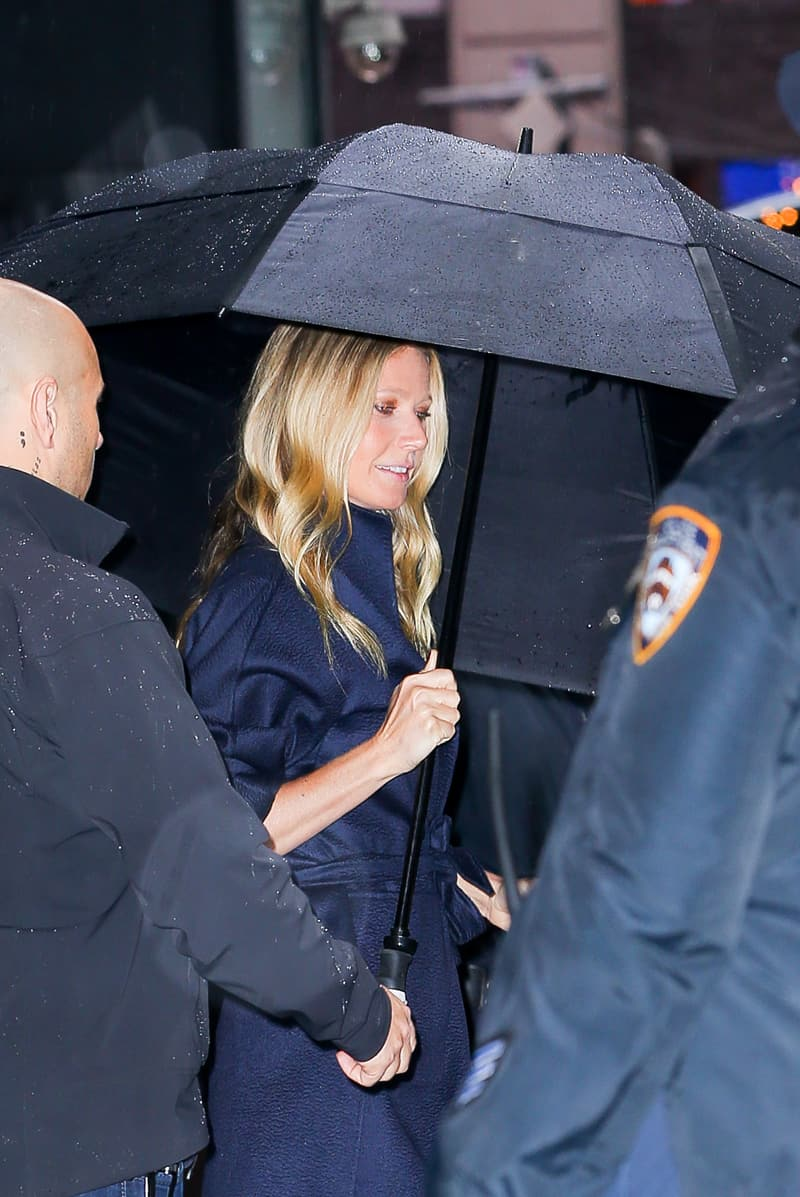 Gwyneth Paltrow con indosso una cappotto iconico Max Mara