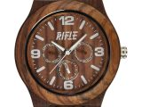 Rifle, orologio total wood in legno